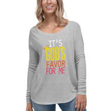 Load image into Gallery viewer, God's Favor Ladies' Long Sleeve Tee