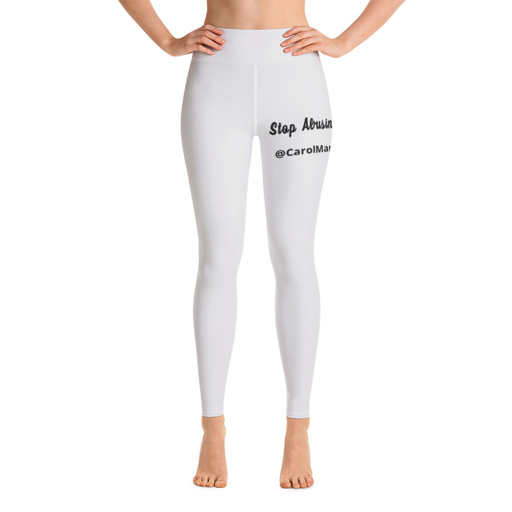 Carol Maraj Yoga Leggings (Stop Abusing Our Women)