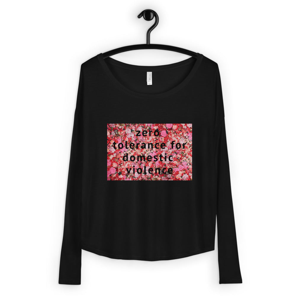 Zero Tolerance for Domestic Violence Ladies' Long Sleeve Tee