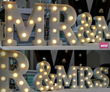 Metal Marquee Letters White 23cm