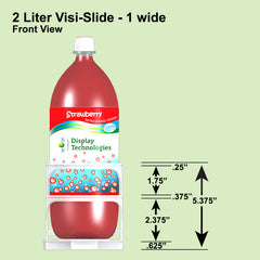 2 Liter Visi-Slide 1 wide Shelf Glide 12/Carton