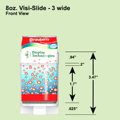 8oz. Visi-Slide 3 wide Shelf Glide  6 / Carton