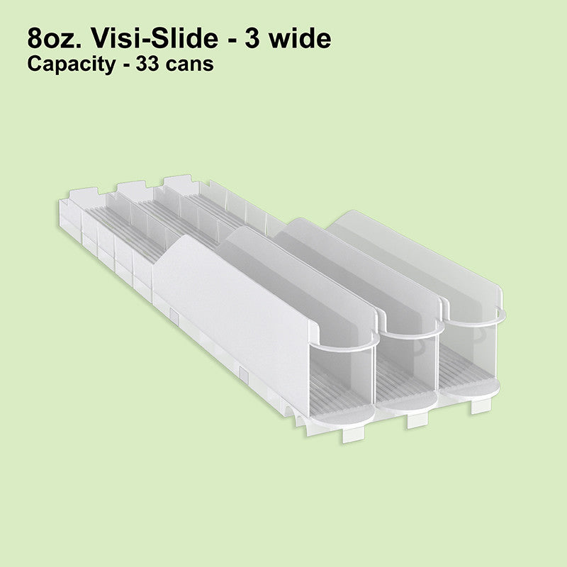 8oz. Visi-Slide® 3 wide Shelf Glide