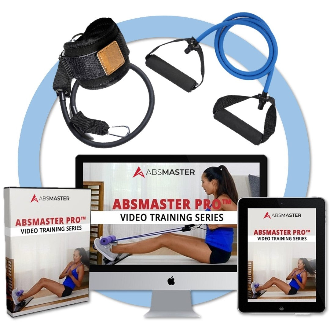 ABSMASTER UPGRADE BUNDLE - Video Training Series with FREE Complete Resistance Band Bundle