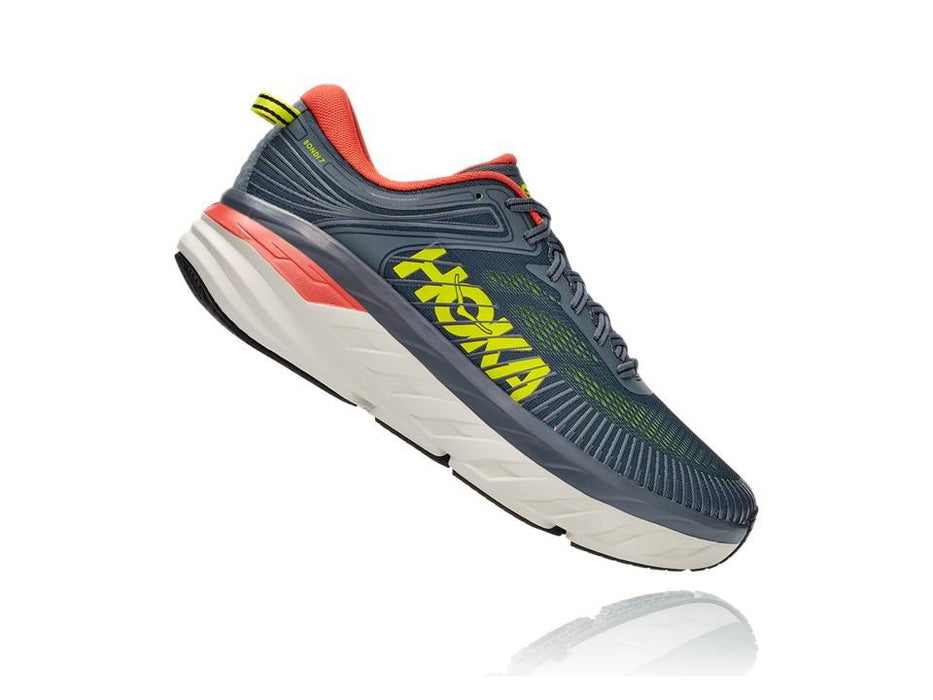 Hoka One One Men's Bondi 7 - Turbulence/Chili