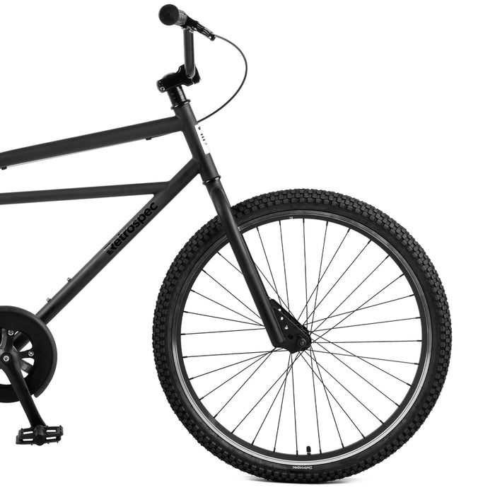 "Retrospec Sully Klunker-Style Single-Speed Bike - Matte Black 18"" 2021"