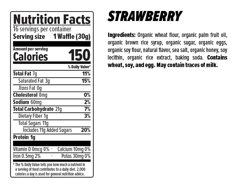 Honey Stinger Waffles Box of 16 - Strawberry