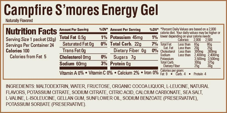 GU Energy Gel Box of 24 - Campfire S'Mores