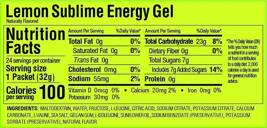 GU Energy Gel Box of 24 - Lemon Sublime