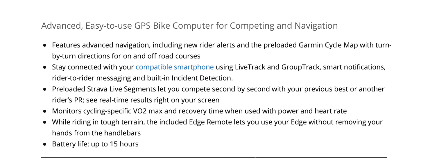 Garmin Edge 520 Plus MTB Bundle Bike Computer