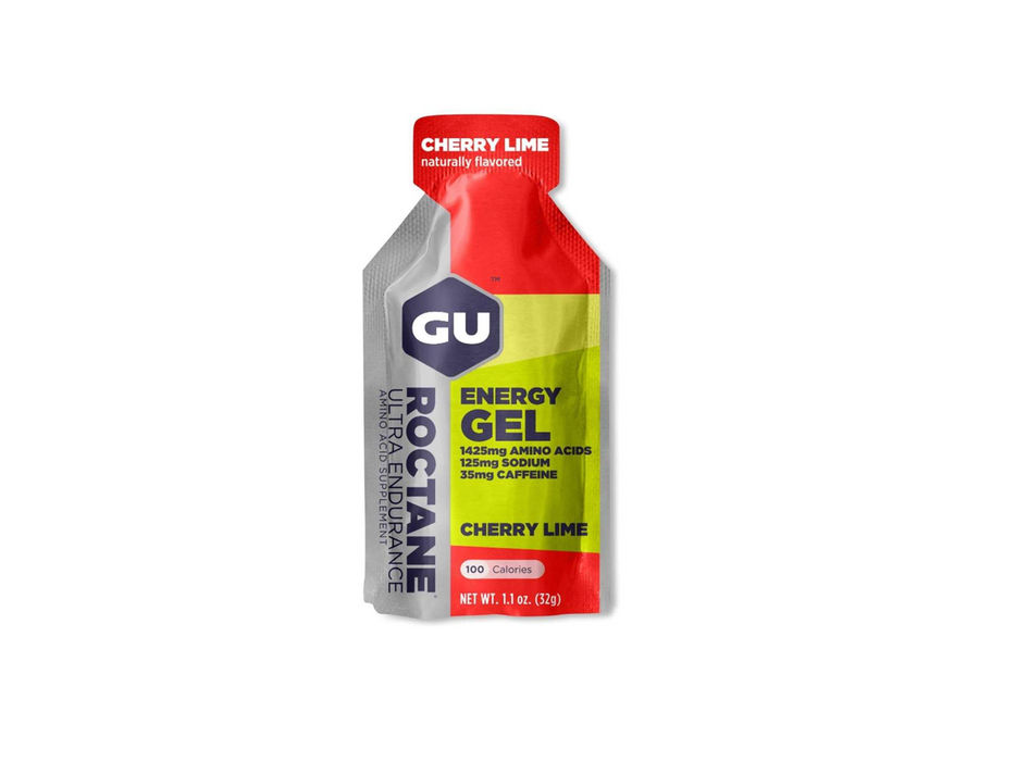 GU Energy Gel Box of 24 - Roctane Cherry Lime