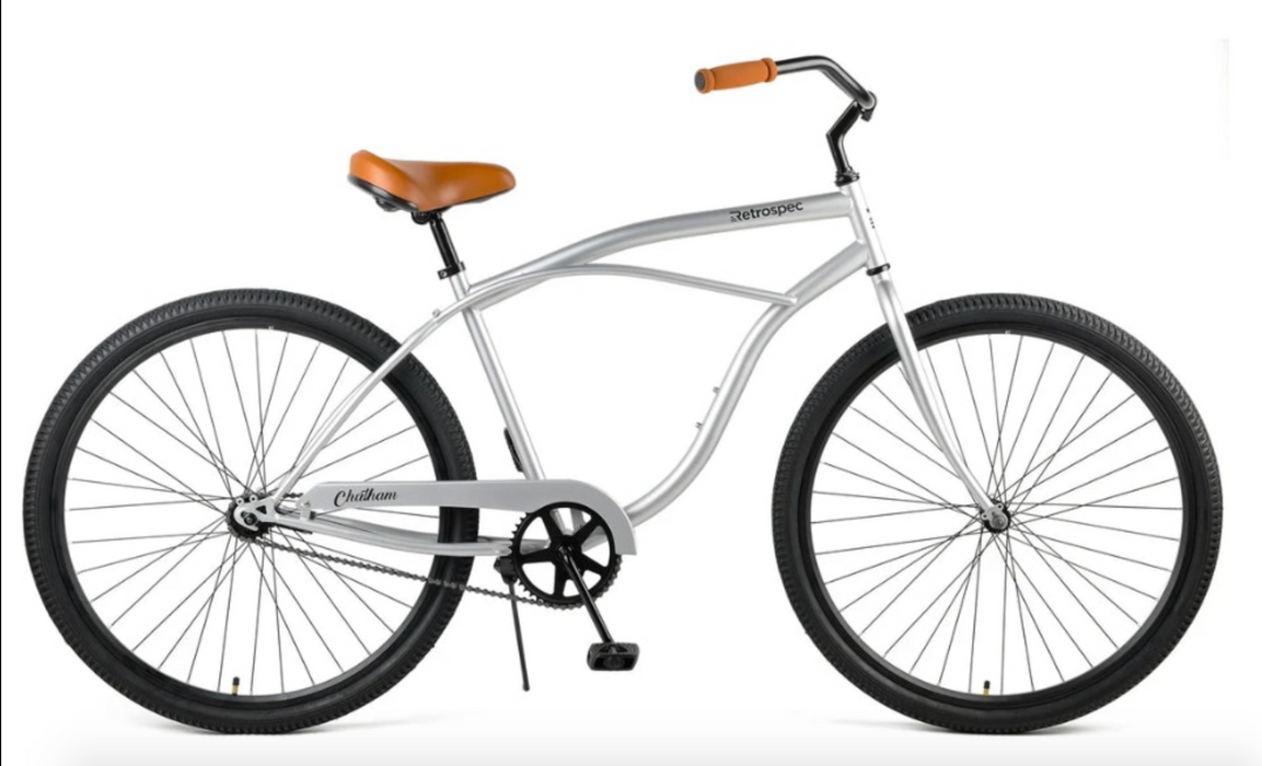 "Retrospec Chatham Beach Cruiser 1-Speed 29"" - Matte Silver/Cardinal 2021"
