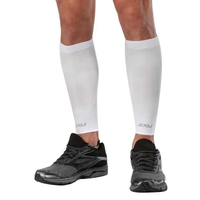 2XU Unisex Compression Performance Run Sleeves (White)