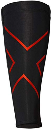 2XU Unisex Compression Calf Sleeves (Black/Red)