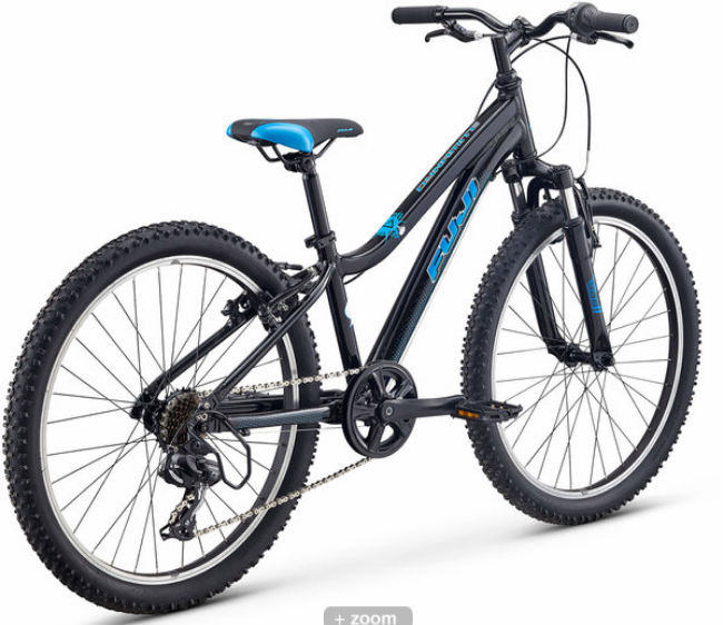 "Fuji Dynamite 24"" Sport Black Kids Bike 2021"