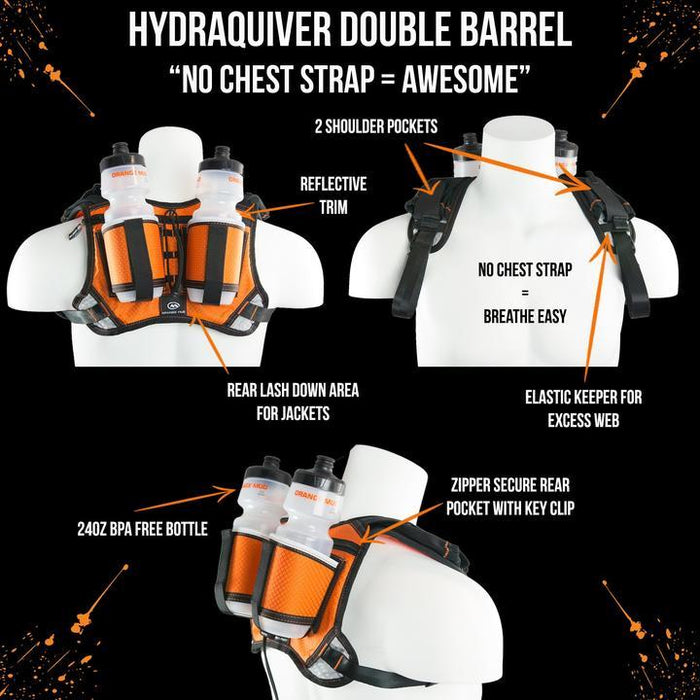 Orange Mud HydraQuiver Double Barrel Hydration Pack