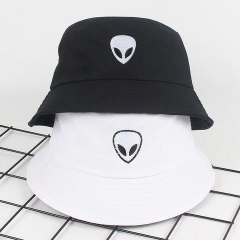 Embroidery Alien bucket hat