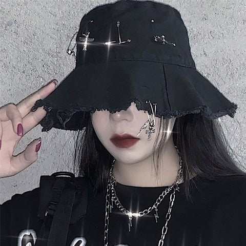 Gothic Pin Bucket Hat
