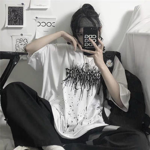 Punk Logo Drip Short Sleeve T-Shirt