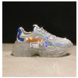 Women's Streetwear iridescent sneakers