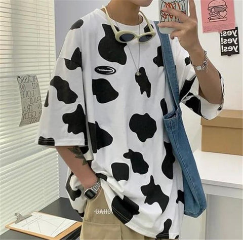 Cow Print oversized T shirt