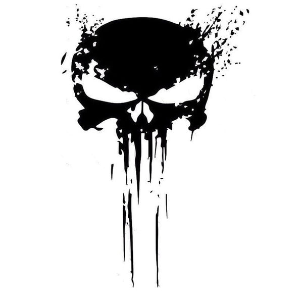 Punisher Style Skull Car Sticker Decal - skulldaze