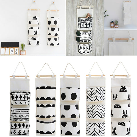 Black And WHite Wall Hanging Organizer