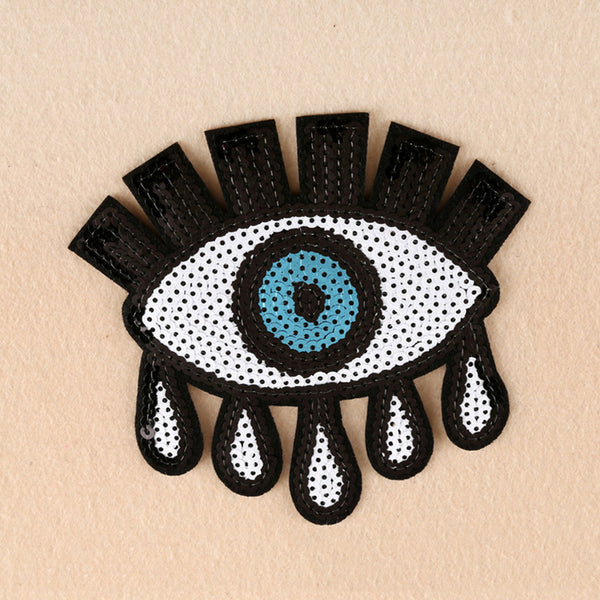 Eyeball Iron On Applique - skulldaze