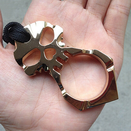 Skull Keychain Self Defense Emergency  Survival Tool - skulldaze