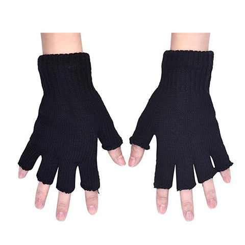 Midi Mittens Fingerless Gloves - skulldaze
