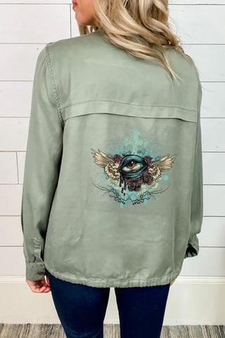 Cross Eye Windbreaker - skulldaze