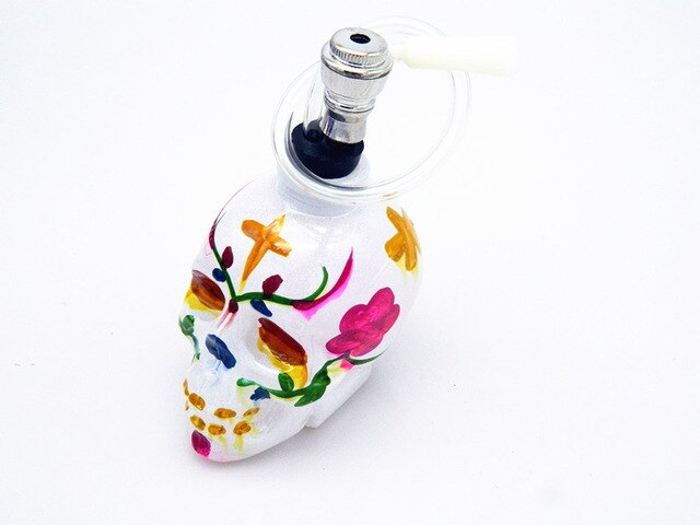 Hand-painted Skull Head Hookah Shisha Bottle Decoration - skulldaze