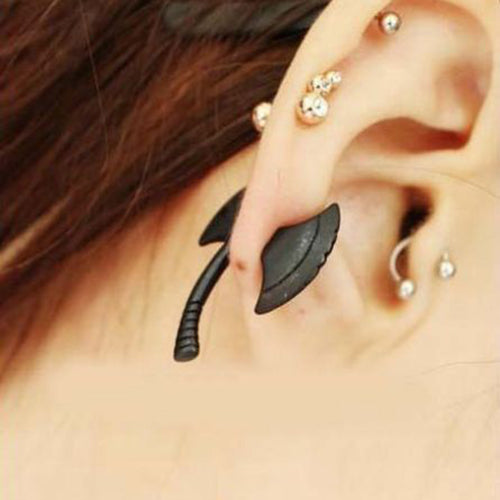 Hatchet Earring Optical Illusion Jewelry - skulldaze