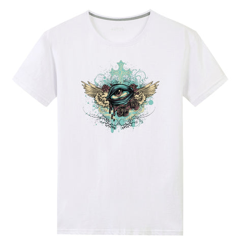 Flying Eye Unisex Front Print T-shirt - skulldaze