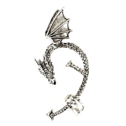 Whispering Dragon Ear Cuff - skulldaze