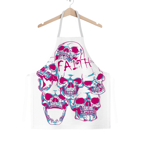 Faith and SKulls Classic Sublimation Adult Apron - skulldaze