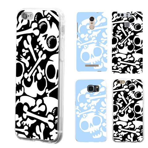 Skull Pattern Phone Case - skulldaze