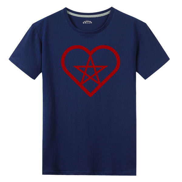 Pent Up Heart Print T-shirt - skulldaze