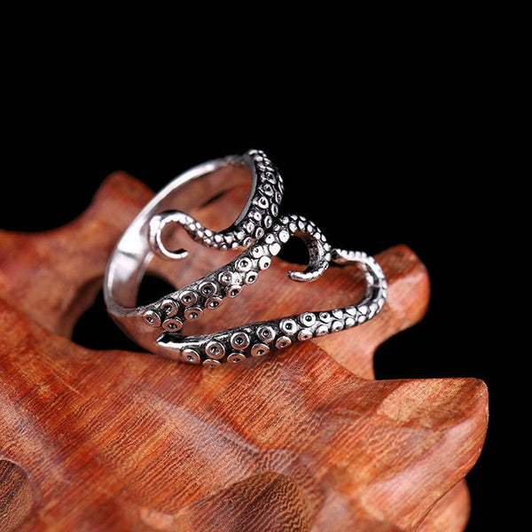 Adjustable Sea Creature Finger Cuff Ring - skulldaze