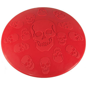 The Incredible Indestructible Fido Frisbee Skull Printed Pet Toy - skulldaze
