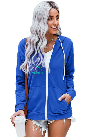 Women's Zip Hoodie  Fuck Off I'm a Mermaid - skulldaze
