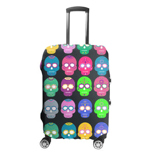 Sugar Skull Day of Dead Rolling Luggage Slip Cover - skulldaze
