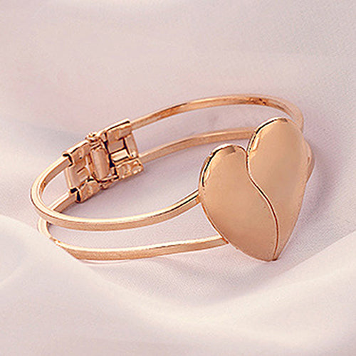 Broken Heart Bracelet Bangle - skulldaze