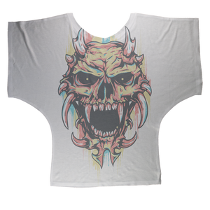Pastel Skull Sublimation Batwing Top - skulldaze