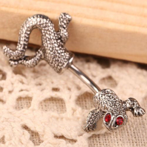 Gecko Navel Ring Jewelry - skulldaze