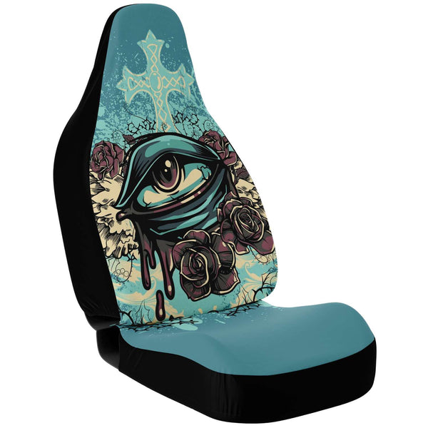 Car Seat Covers Eye Roses SkullDaze - skulldaze