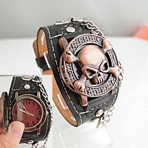 Bracelet Watch Skull Face Cover - skulldaze