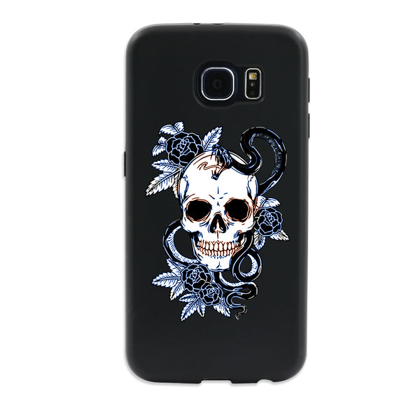 Skull Snake Case Cover for Samsung Galaxy Note 4 iPhone 5 5S SE S7 Edge - skulldaze