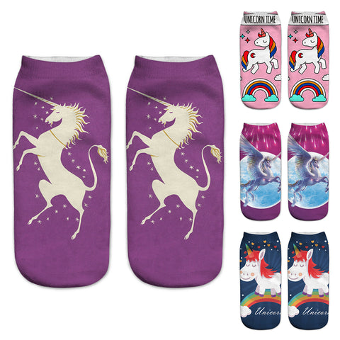 unicorn socks - skulldaze