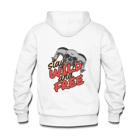 Men's Hoodie Skulldaze Stay Wild and Free Sweatshirt - skulldaze